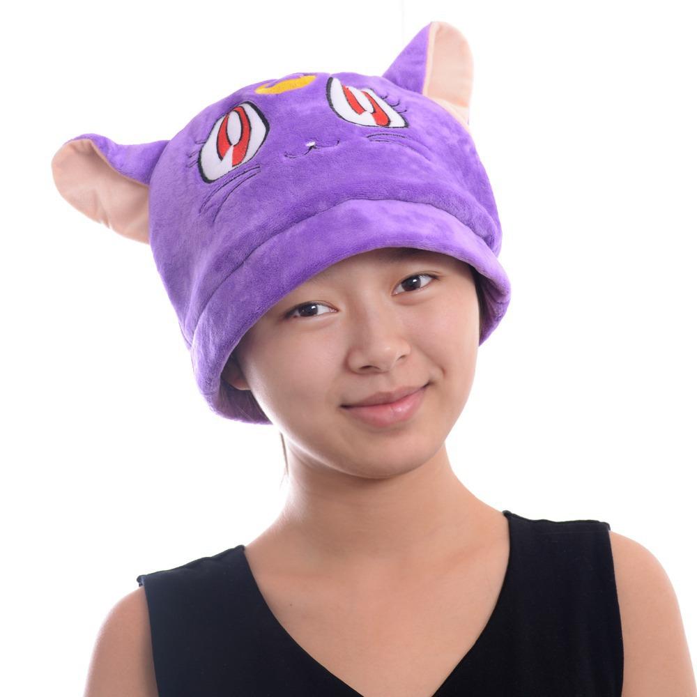 cool sailor moon plush purple cat arty costume