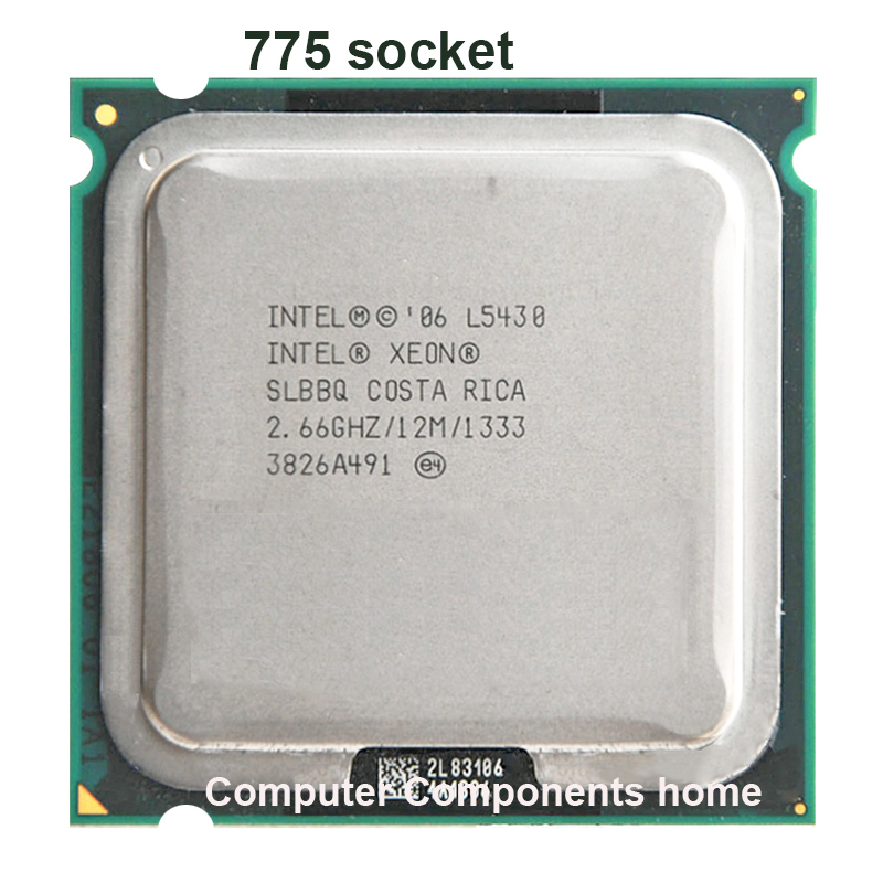 INTEL XEON L5430 775 Processor 771 to 775 (2.660GHz/12MB/1/Quad Core) LGA775 work on 775 motherboard warranty 1 year(China (Mainland))