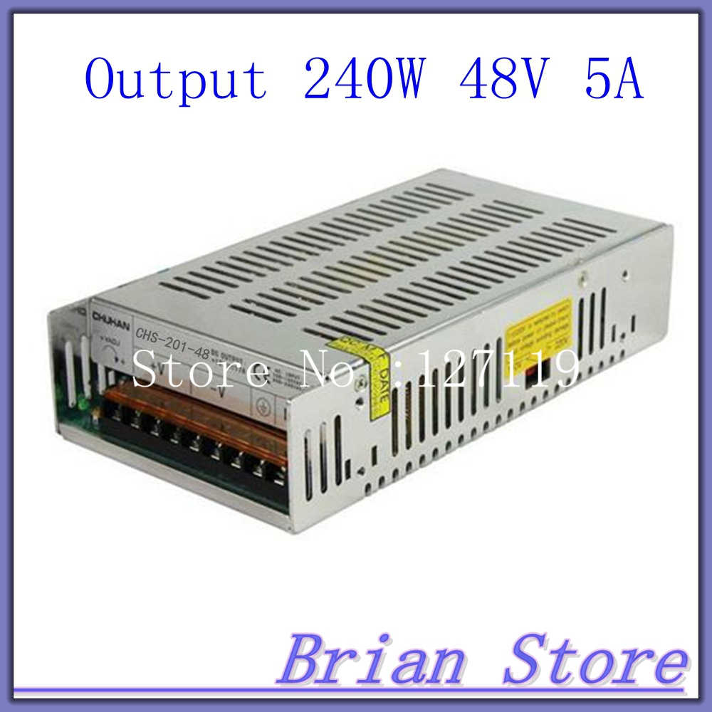 240W 48V 5A Single Output Uninterruptible Switching power supply for LED Strip light AC-DC Converter<br><br>Aliexpress