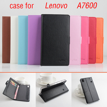 Litchi Lenovo A7600 case cover, Good Quality New Leather Case + hard Back cover For Lenovo A7600 A 7600 Cellphone Phone Case