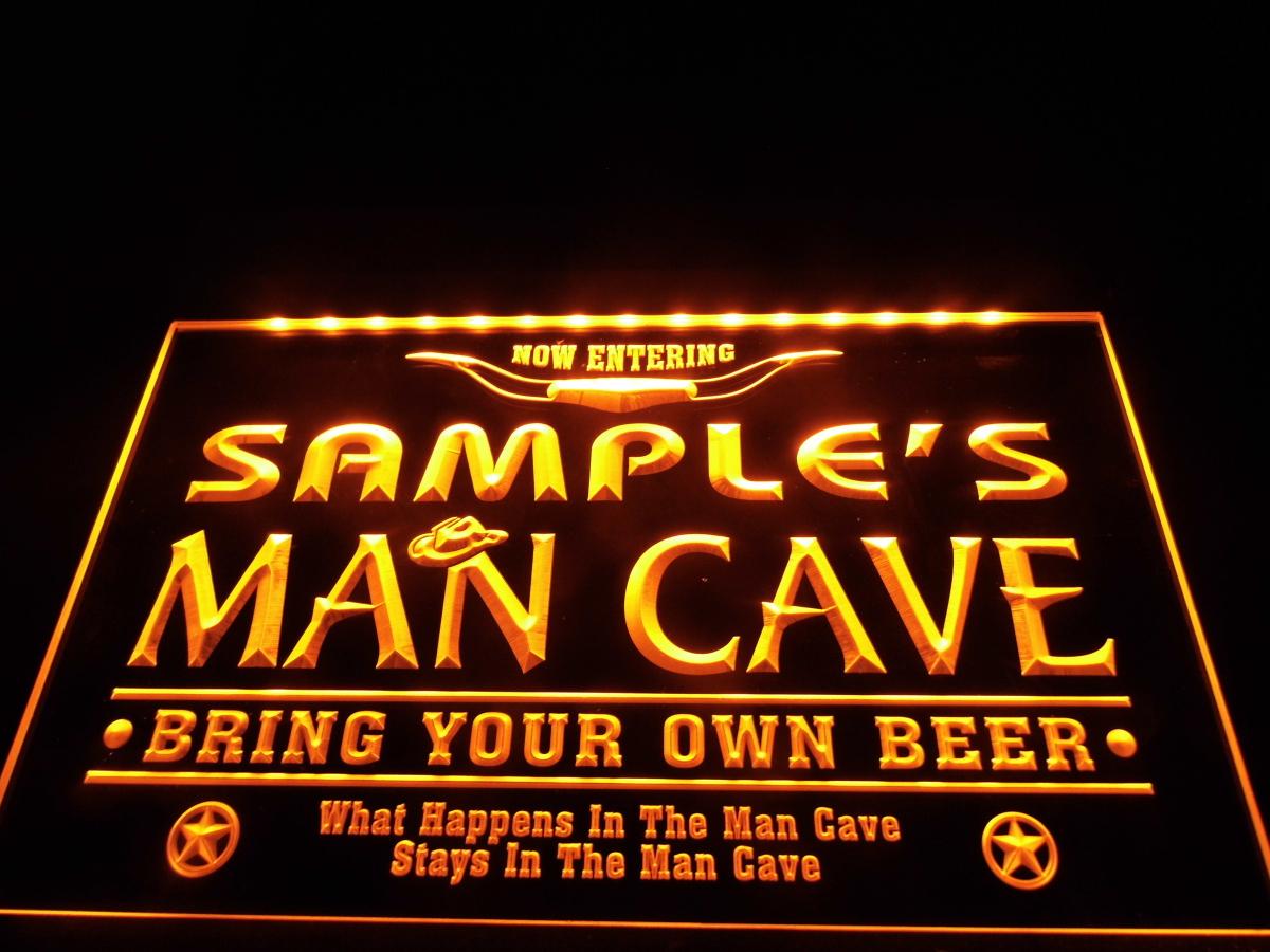 DZ003b- Name Personalized Man Cave Cowboys Bar LED Neon Beer Sign(China (Mainland))