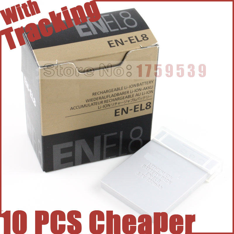 EN-EL8 EN EL8 ENEL8 Camera Battery for Nikon COOLPIX S1 S2 S3 S4 S5 S6 S7 S7C S8 S9 S51 S50 S52 P1 P2 L1 L2 MH-62(China (Mainland))