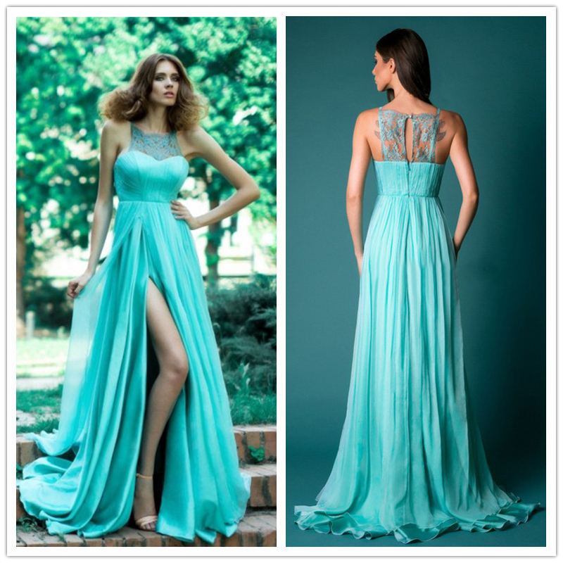 summer maxi Dress Blue Chiffon A-Line 2015 Bandage Backless Sparkly Beading plus size Long Dresses New Elegant Royal dress(China (Mainland))