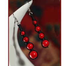 Handmade Vintage Elegant Beads Drop Earrings For Women Free Shipping 0231(China (Mainland))