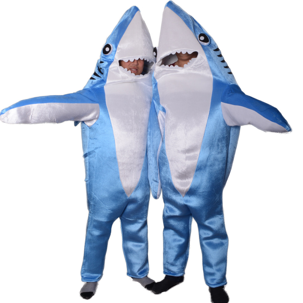 Blue shark attack adult costume animal party cosplay suit Mascot Funny unisex Cute jumpsuits halloween costumes for womenОдежда и ак�е��уары<br><br><br>Aliexpress