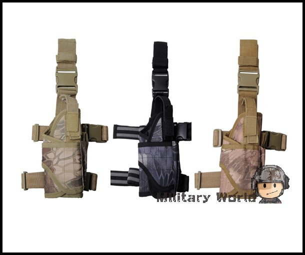 Military Army Puttee Thigh Drop Leg Bag Tactical Gun Pistol Holster for Hunting Right Hand Banshee/Typhon/Highlander Camo<br><br>Aliexpress