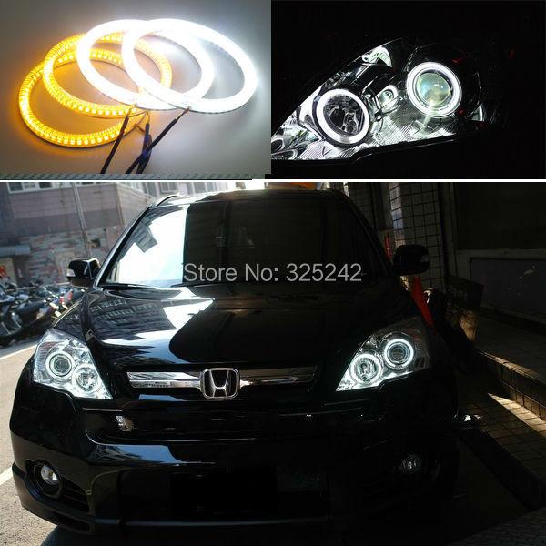 Honda CRV CR-V 2007 2008 Excellent Ultrabright Dual Color Switchback smd LED Angel Eyes Halo Rings kit