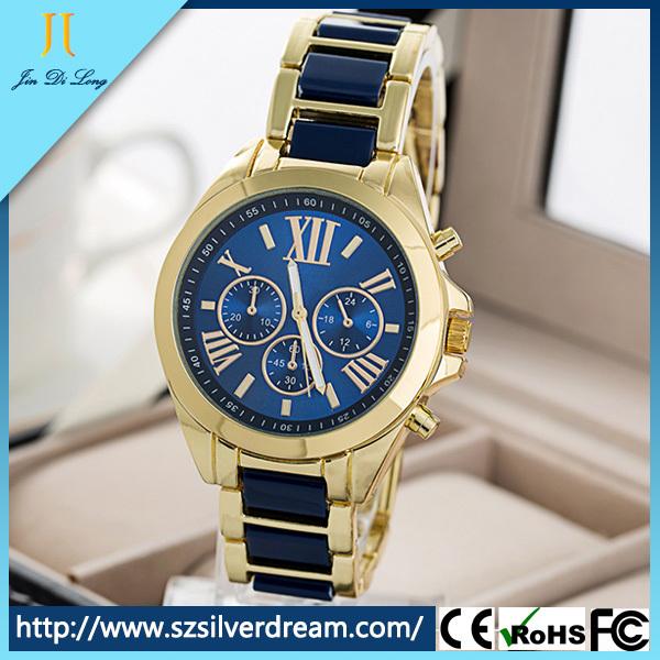 2015 New Geneva Deluxe Women's Quartz Roma Numerial Watches Women Waterproof Wristwatches Ladies Alloy Watch Relogio(JL-HJ002)(China (Mainland))