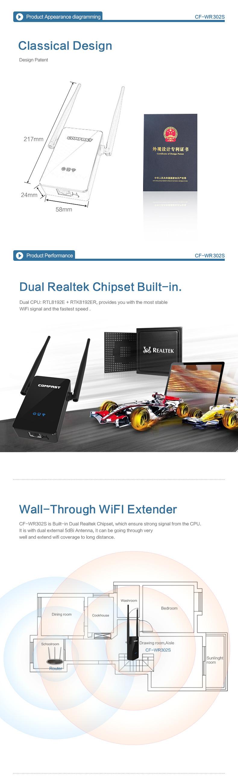 300mbps wifi r p teur sans fil routeur ap range booster extender eu plug antenne ebay - Repeteur wifi free ...