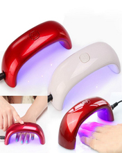 nail dryer nail gel polish mini nail dryer LED UV lamp for curing dryer curing lamp led rainbow lamp for nail art tools #M01266(China (Mainland))