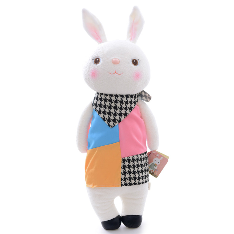 METOO Plush Tiramissu Bunny Toys Lattice Rabbits Stuffed Toy Decor Doll 12'' Collectible New Free Shipping #LNF(China (Mainland))