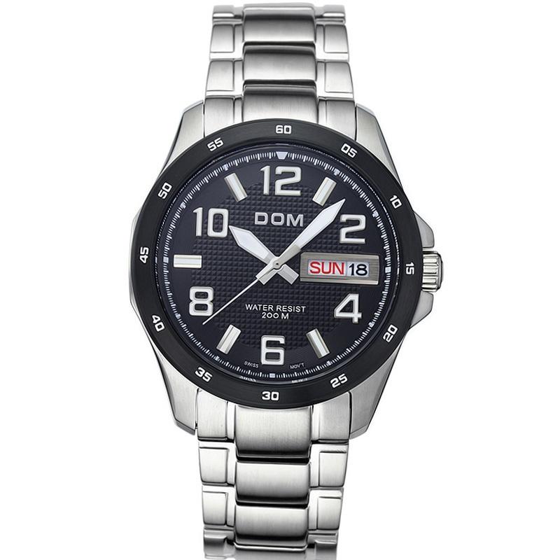 Часы мужчины роскошь марка верхний часы щенков-дом 132D кварцевый мужчины наручные часы погружения 200 m военный часы сапфир relogio masculino