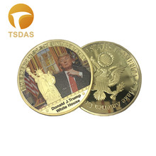 Buy 24k Gold Plated Coin 45th USA President Donald Trump Coin Colored Metal Golden Craft Christmas Souvenir Coins Best Gift for $6.02 in AliExpress store