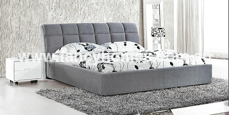 FB1517 Upholstered Bed frame tufted headboard Bedroom Furniture(China (Mainland))