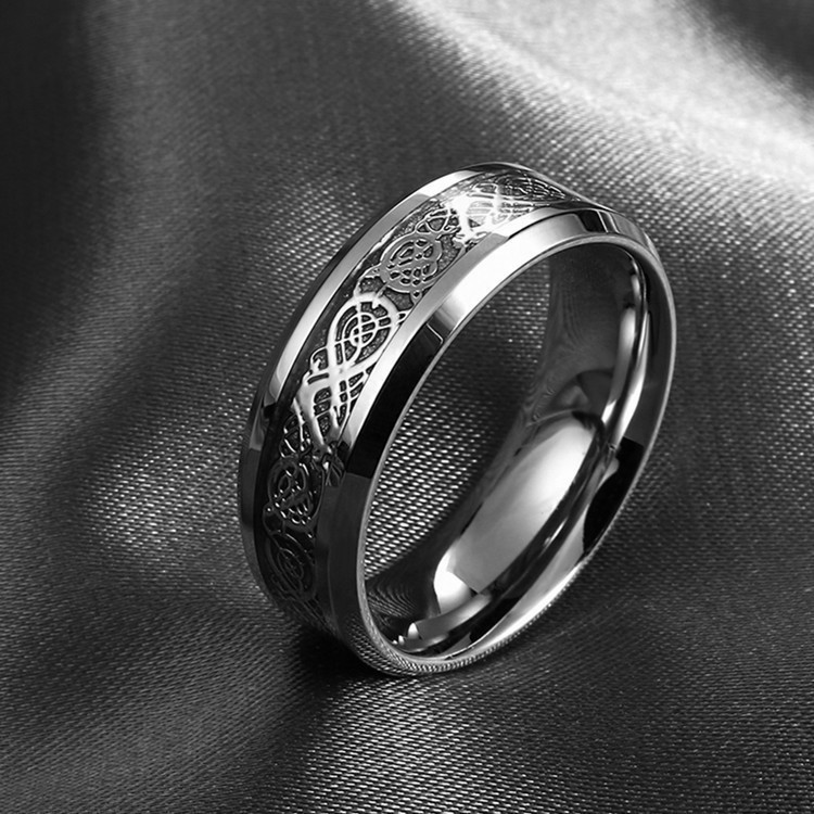 fine jewelry How to Train Your Dragon Rings fashion 316L stainless steel dragon ring for men 089(China (Mainland))