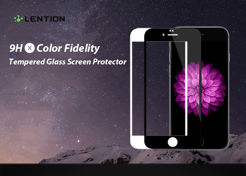 2.5D Full Screen Toughened Tempered Glass Protector Original White Black Color Protective Film for iPhone6 6s 4.7 plus 5.5 inch