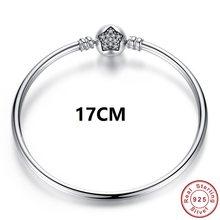 יוקרה מקורי 100% 925 סטרלינג כסף נחש שרשרת צמיד צמיד לנשים אותנטי קסם תכשיטי Pulseira מתנת XCHS902(China)