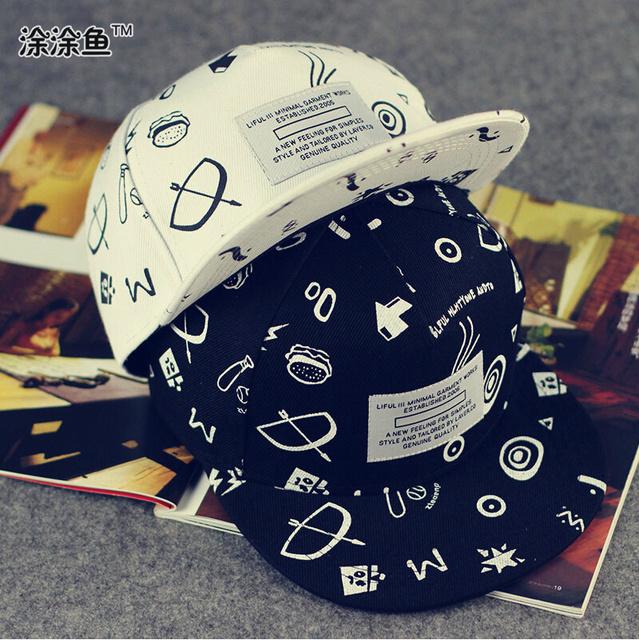 Топ дизайн мужская мода бренд абстрактный граффити регулируемая Snapback Cap для детей дети повернет вспять кости открытый хип-хоп кепка