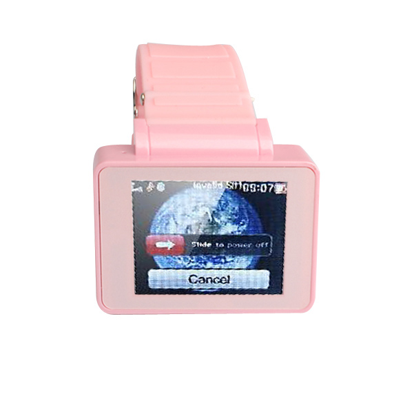 Wearable Eletronic DevicePink Wrist Watch Cell Phone 1.8''TFT Touch Screen Bluetooth TF Card 88(China (Mainland))