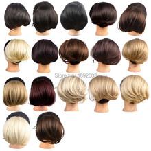 Synthetic Hair Chignon Hairpiece Hair Bun Bride Headwear Chignon Hair Pieces Bun 17 Colors WQ941G