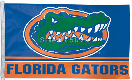 NCAA Florida State University Gator Flag 3x5 FT 150X90CM Banner 100D Polyester flag 106, free shipping(China (Mainland))
