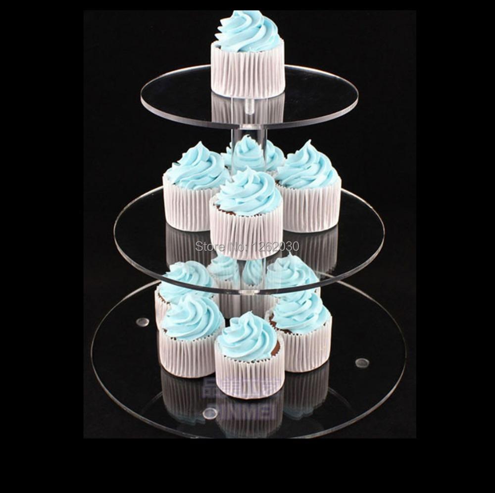 3 tier acrylic cake stand,wedding cupcake stand Free shipping!!!(China (Mainland))