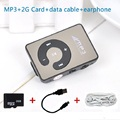 2015 Mini Clip Portable MP3 Music Media Player with 2GB Micro SD TF USB data line