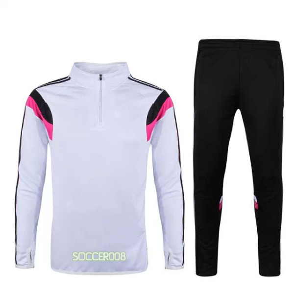 2015 Champions League Real Madrid soccer tracksuits Half zipper long sleeve suit Ronaldo football training suit top and pants(China (Mainland))