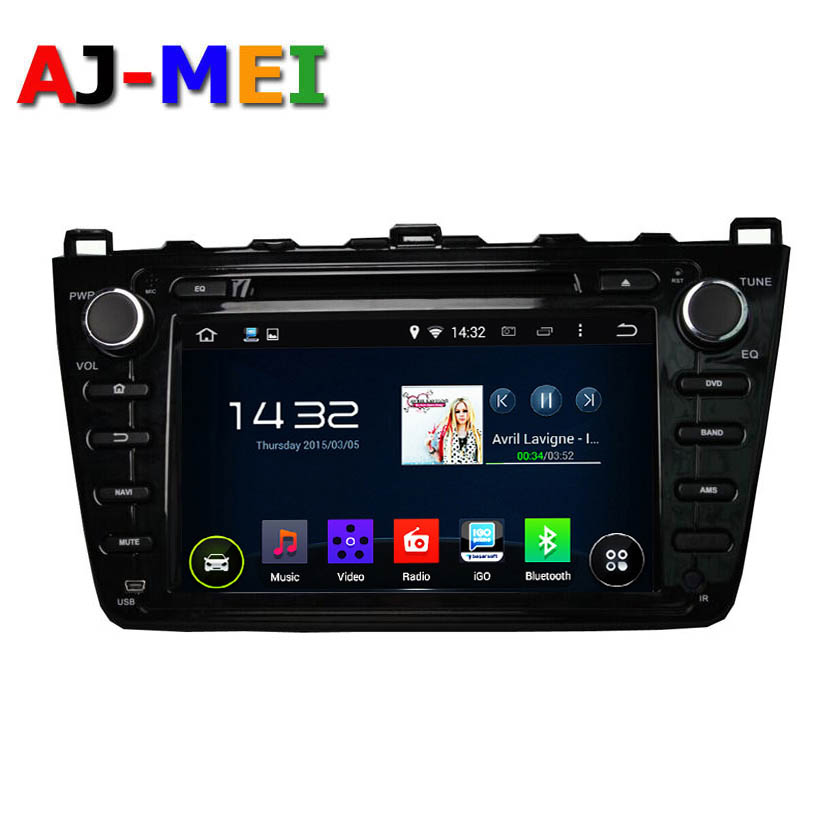 Android 5.11 Quad Core 1024*600 Mazda 6 Ruiyi 08-2012 Car GPS Navigation Multimedia system With Automotive Radio Cassette Player(China (Mainland))