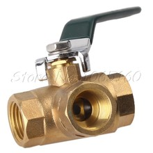 "Full Ports 1/2"" BSPP Three Way Brass Ball Valve for Compressed Air Water Oil(China (Mainland))"