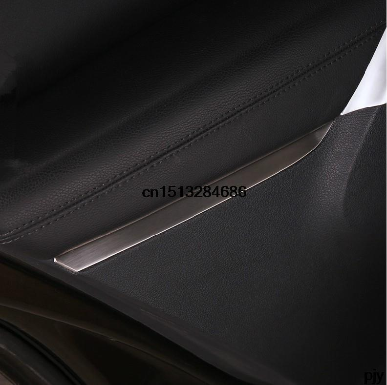 Car door inside armest Stainless steel decoration light 4pcs For VW Volkswagen 2010 2015 Tiguan Accessories