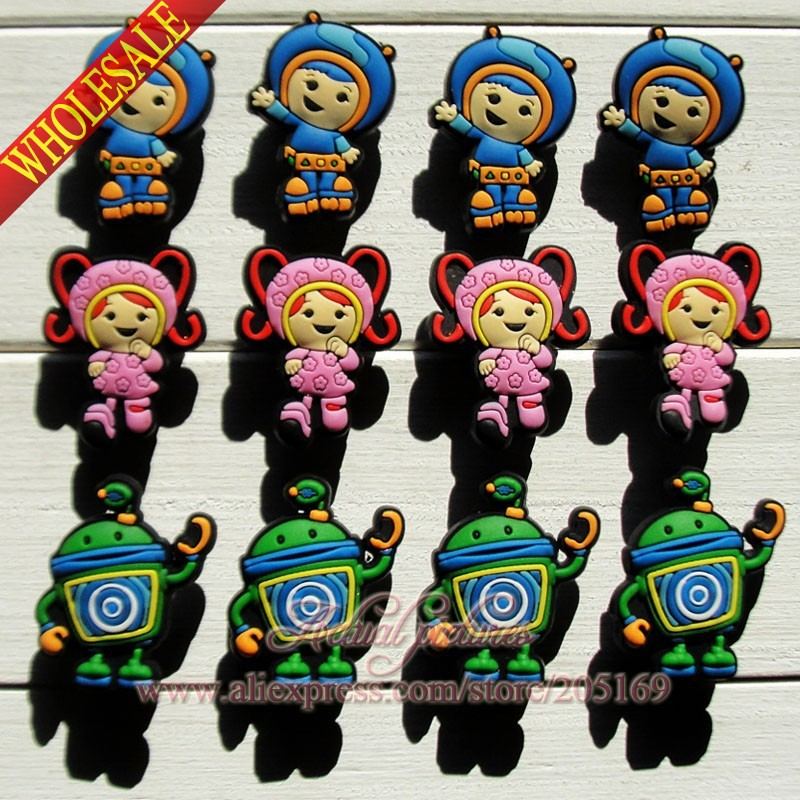Free Shipping,12pcs/lot Team Umizoomi PVC Shoe Charms /Shoe Buckles For Jibz Bracelets,Shoe Ornaments/Accessories,Kids Gift(China (Mainland))