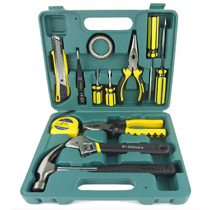 Tools electric repair kit car emergency kit combination tool kit automotive supplies spare household tool (set a sets of 13pcs)(China (Mainland))