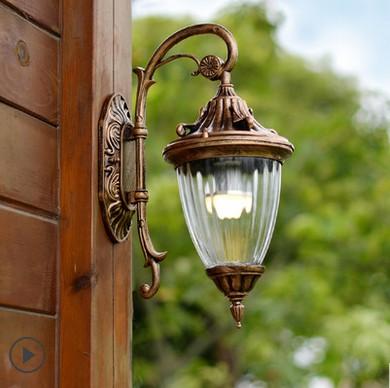 European LED Wall lamp Outdoor Wall Sconce Lighting Waterproof Garden Wall Light Fixtures Aluminum Glass Vintage Porch Lights<br><br>Aliexpress