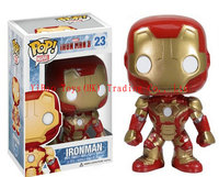 2015 Funko Pop Iron Man 3 Ironman Toys PVC Action Figure brinquedos Red Gold Super Hero Free Shipping