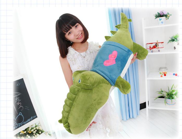 Здесь можно купить  new plush cartoon crocodile doll green crocodile toy gift about 100cm  Игрушки и Хобби