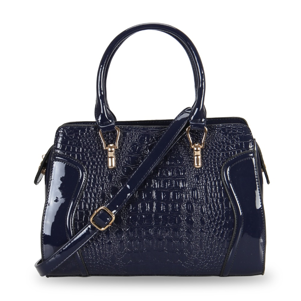 2016 Women Elegant Handbags Famous Brand Crocodile Patent Leather Ladies Tote Bags Female Shoulder Crossbody Bags Disgual Bolsas(China (Mainland))
