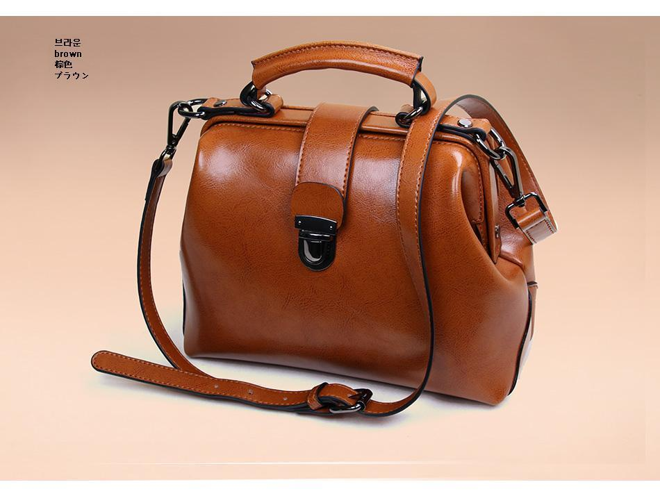 2015 New Arrival Fashion Wax Paper Leather Bag Hangbag Women Messenger