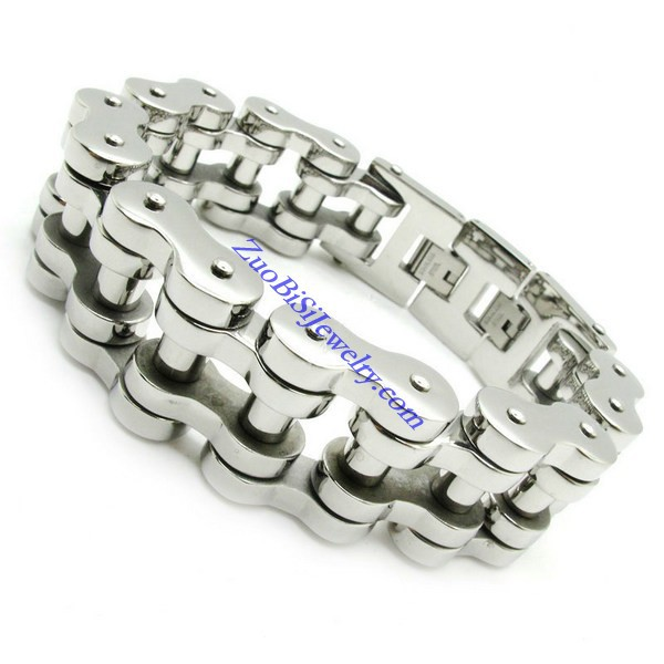 width 21mm huge&heavy fashion links chain bracelet 316L stainless steel motorcycle bike bangle men punk biker - Stainless Steel Jewelry Online Store store