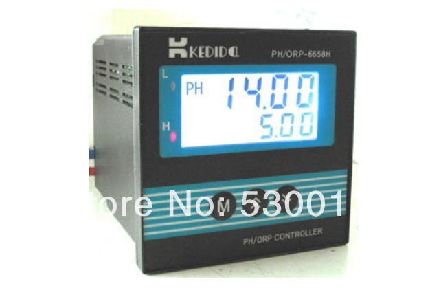 New style ph controller CT-6658 ORP controllers Containing electrode and LCD Display PH meter Free shipping range is 0-14PH(China (Mainland))