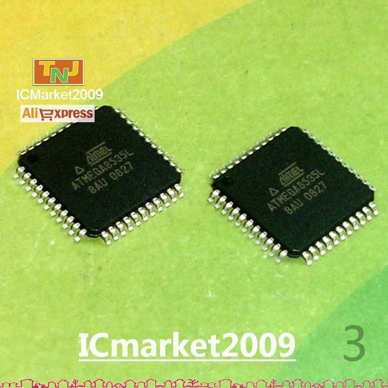 10 PCS ATMEGA8535L-8AU QFP-44 ATMEGA8535 8-bit AVR Microcontroller with 8K Bytes In-System Programmable Flash(China (Mainland))