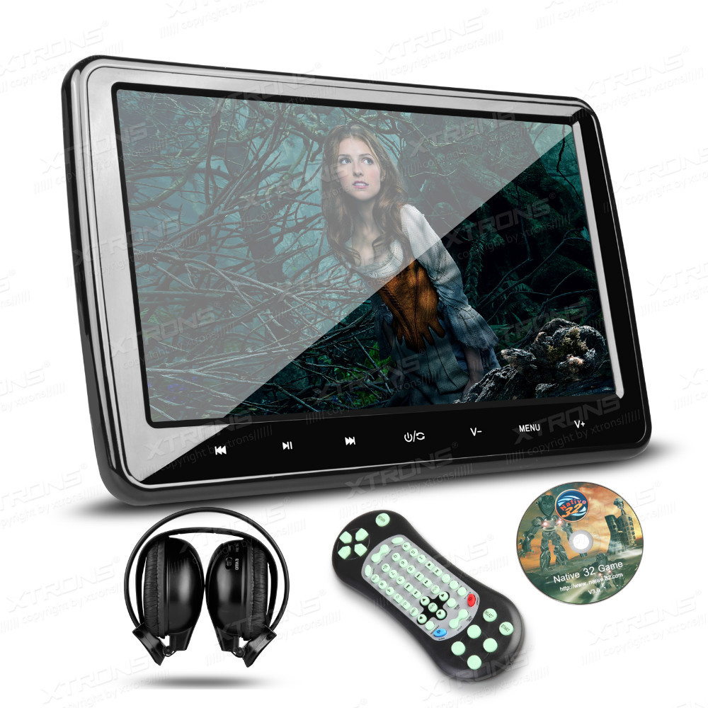 "10.1"" Car Headrest DVD Monitor Player 1024*600 HDMI Port Touch Button Game/USB/SD/CD/Mp3 HD Digital TFT Screen Ultra-thin(China (Mainland))"