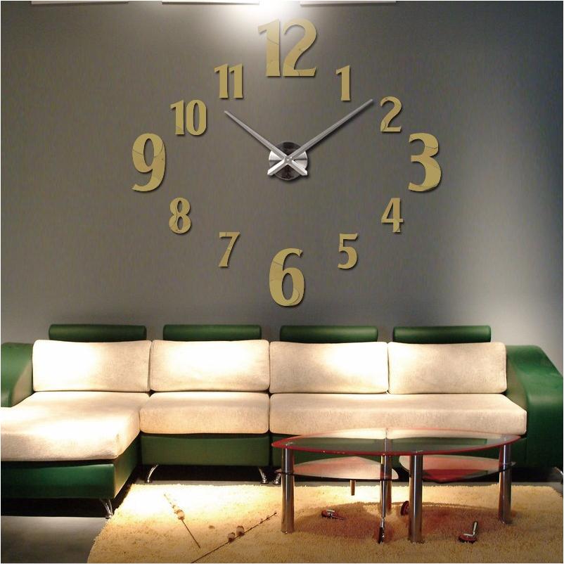 3d wall clock home decor quartz diy wall watch clocks living room