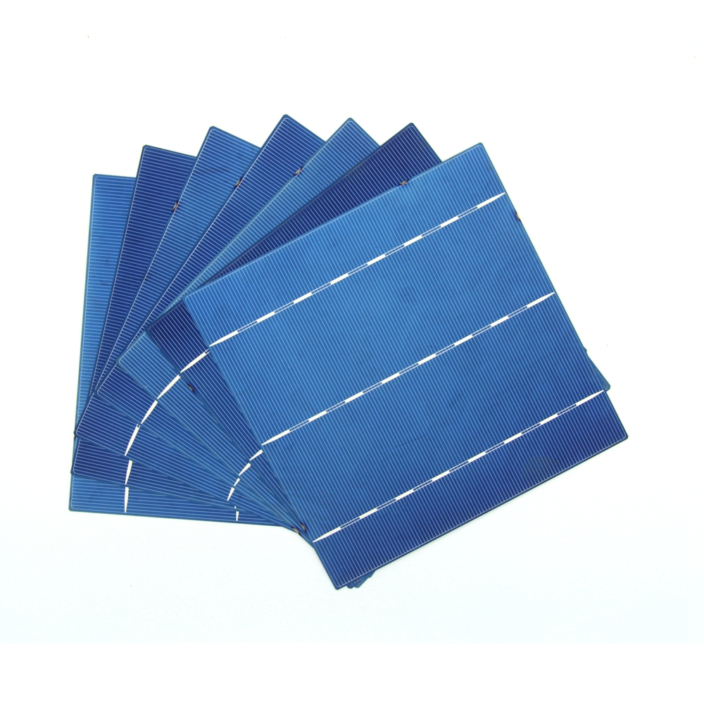 10 Pcs 4.2W 0.5V A Grade 156 * 156MM PV Poly Polycrystalline Silicon Solar Cell 6x6 For DIY Solar Panel(China (Mainland))