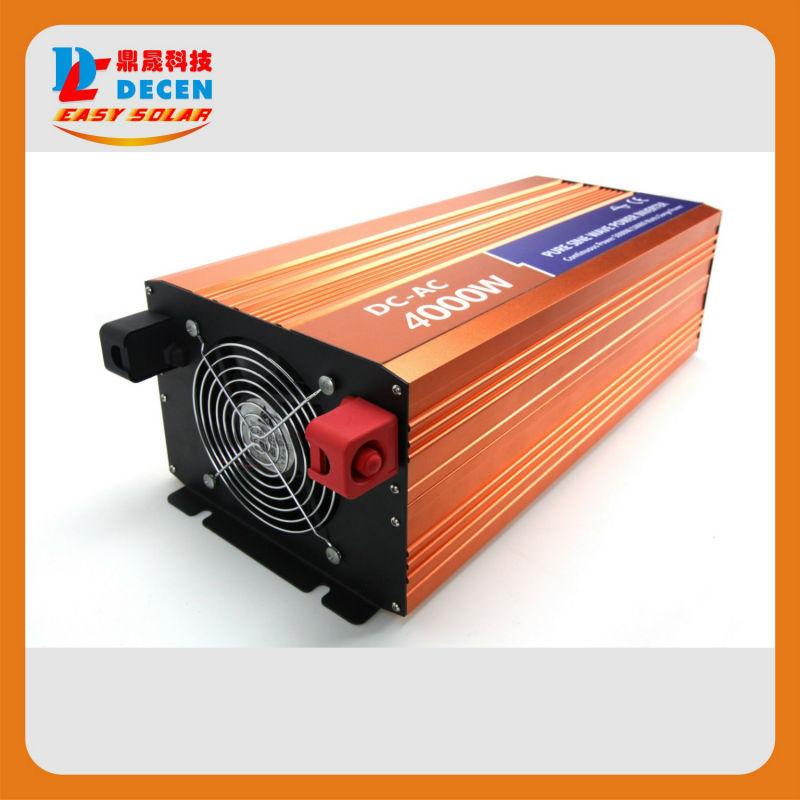 DECEN 4000W 48VDC 110V/120V/220V/230VAC 50Hz/60Hz Peak Power 8000W Off-grid Pure Sine Wave Solar Inverter or Wind Inverter<br><br>Aliexpress