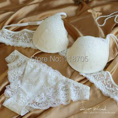 New 2015 sexy underwear women bra set deep-V lace bra brief BRA&Panties,Sexy lace Brand Push Up ABC cup lingerie set(China (Mainland))