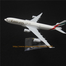 16cm Alloy Metal Airplane Model Air Emirates Airlines Airbus 340 A340 Airways Plane Model W Stand Aircraft Toy Gift(China (Mainland))