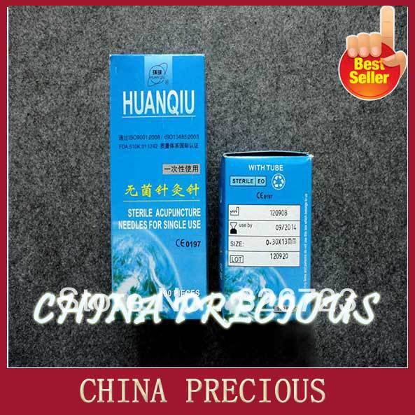 Free shipping 100% 2013 medical Huan Qiu brand disposal acupuncture needles - CE/FDA certificate acupuncture product 100pcs