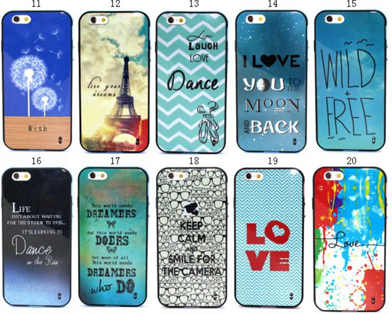 2015 New Popular Case For Apple iPhone 6 4.7 inch Colored Drawing Luxury Hybrid Hard Frame TPU Soft Back Case Cover Protector(China (Mainland))