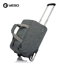 Trolley Travel Bag Hand Luggage 20inch 32L Rolling Duffle Bags Waterproof Oxford Suitcase On Wheels Carry On Luggage Unisex YESO(China (Mainland))